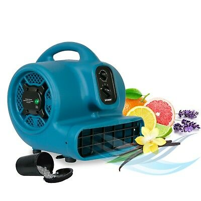 XPOWER P-450NT 1/5 HP 2000 CFM Scented Air Mover Dryer Fan w Ionizer & Timer