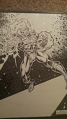 FIRESTORM Original Art from Seattle Comic Con 1999  Mark Brown Peter Temple