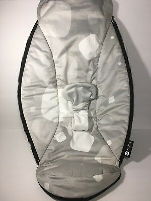 4moms MamaRoo Replacement Part Seat SPOTTED Grey/White Fabric  **VERY RARE**