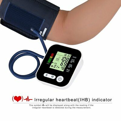 Digital LCD Upper Arm Cuff Blood Pressure Pulse Monitor Sphygmomanometer Health