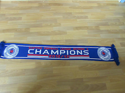 Official Glasgow RANGERS Division 3 Champions scarf 2012/2013