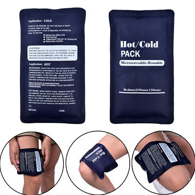 200g Reusable Gel Ice Pack Cold Therapy Pad Pain Relief Sport Compress Back Leg!
