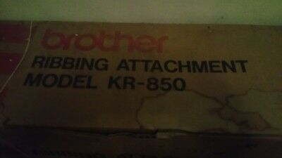 Brother Kr850 Ribbing Attachment