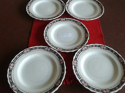 5 Vintage Tuscan China Tea Plates.