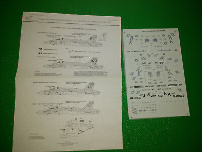 Microscale 1/72 72-540 F/A-18A Hornet Lybian Raiders decals