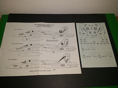 Microscale 1/72 72-551 F/A-18A Hornet USN Low Visibility decals