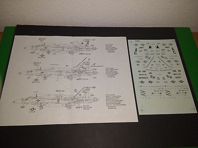 Microscale 1/72 72-652 F/A-18C Hornet decals