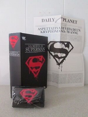La Morte Di Superman + Fascia Lutto + Daily Planet Cartonato Nuovo ------ Batman