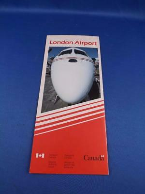 London Airport Advertising Brochure Canada Printed French & English Map History