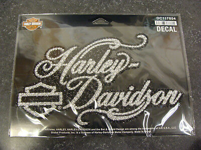 Harley-Davidson® Jeweled Script Decal - DC117804