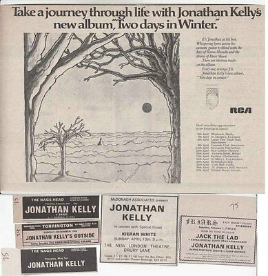 JONATHAN KELLY : CUTTINGS COLLECTION -adverts-