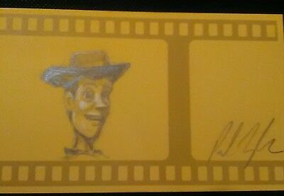 Pixar Toy Story drawing by animator with proof