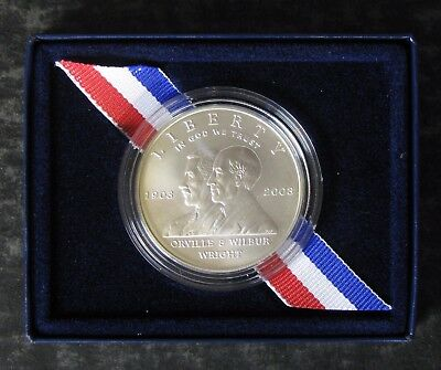 2003-P First Flight/Wright Bros Silver Commemorative $1 Dollar Coin - No Reserve