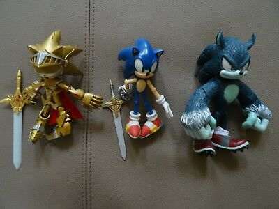 Sonic the Hedgehog figures. Very good condition.
