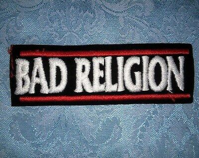 Original Vintage Embroidered Bad Religion 1980's Sew On Patch 80's Iron On Nos