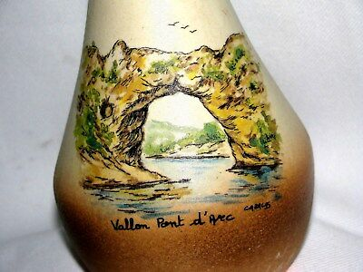 Made in France /potteryw/ hand painted & signet landscaping (Vallon Point ARCH)