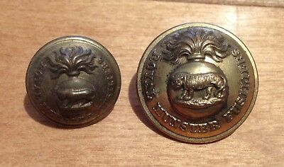 Pair of Victorian Royal Munster Fusiliers Tunic Buttons. Superior Quality