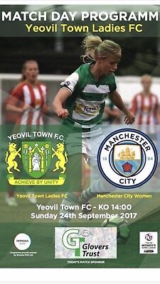 Yeovil Town Ladies FC v Man City Women FC Programme (Season 2017-2018)