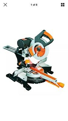 Evolution Rage3-S Multi-Purpose Sliding Mitre Saw with saw blade include, 210 mm