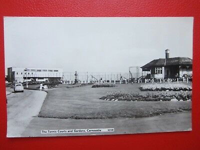 Carnoustie Postcard -- The Tennis Courts and Gardens -- RP/Postdated 1969