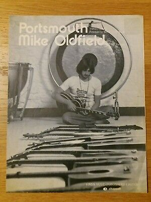 Sheet Music Mike Oldfield Portsmouth 1976 Virgin