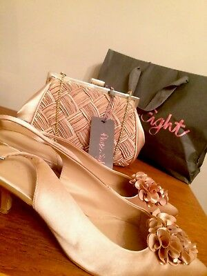 Phase Eight Nude Bag And Shoes Wedding Mother Of The Bride Size 7 Woman's