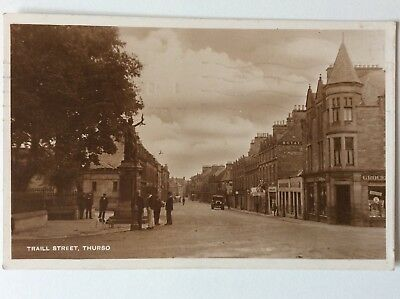vintage postcard, Thurso, Traill Street, 1943, real photo