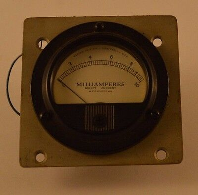 Vintage Honeywell Milliamperes Direct Current Meter 0-10