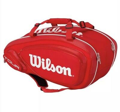 Wilson Tour V 9-Pack Red Tennis Bag, Red