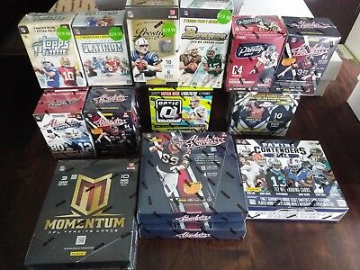 Nfl Hot Box Lot Of 8 Factory Sealed Packs, Hobby & Retail, Autos? Jerseys?