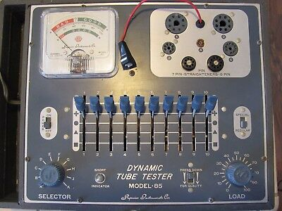Dynamic Trans-Conductance Tube tester Model 85 Superior Instruments Co. Works!