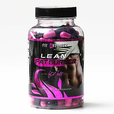 FIT AFFINITY Lean Fat Burner For Her - Weight Loss For Women - 90 Capsules