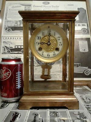 Antique Waterbury Crystal Regulator Clock