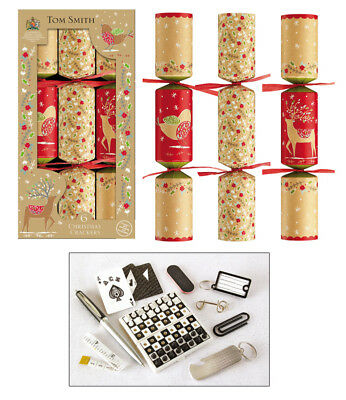Tom Smith Christmas Crackers- 6 x 12'' Kraft Cube Crackers