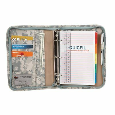 Personal Organizer Planner w File Divider and Calculator and Zippered Pockets