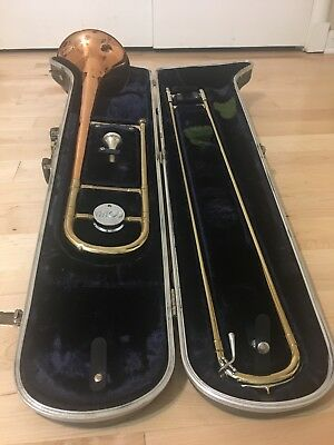 VINTAGE CONN COPRION COPPER BELL TROMBONE, M51397 With Case