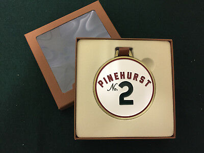 Pinehurst No. 2 Golf Club Metal Bag Tag - Brand New - Leather Strap - Engravable