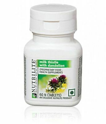 Amway Nutrilite Milk Thistle And Dandelion Supports Liver 60N tablets Free Ship