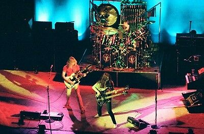 "12""*8"" concert photo of Rush playing at Liverpool in 1979"