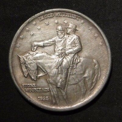 1925 Stone Mountain Silver Commemorative Half Dollar 50¢- AU
