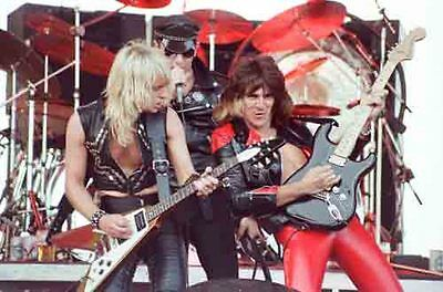 """12""""*8"""" concert photo of Judas Priest playing at Donington in 1980"""