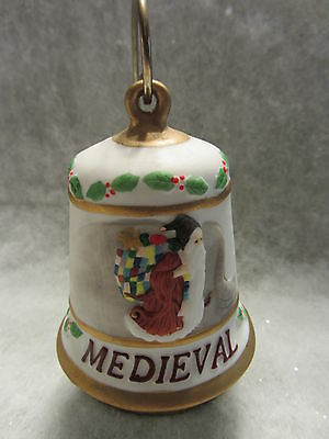 Duncan Royale Christmas Medieval  Bell  1992 with stand  NIB   (10N)