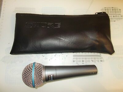 SHURE BETA 58A MICROPHONE .VGC MIC Super sound for vocals. Singer Karaoke