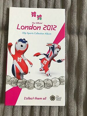 Olympic 50p Coin Album Complete With Coins And Finisher Medallion