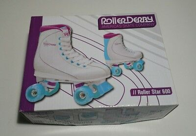 Women's Roller Derby Roller Star 600 Quad Skate Size 8 White U725W Outdoors Park
