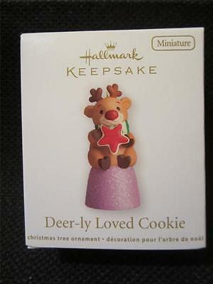 2012 Hallmark Keepsake Miniature Ornament Deer-ly Loved Cookie Reindeer NIB