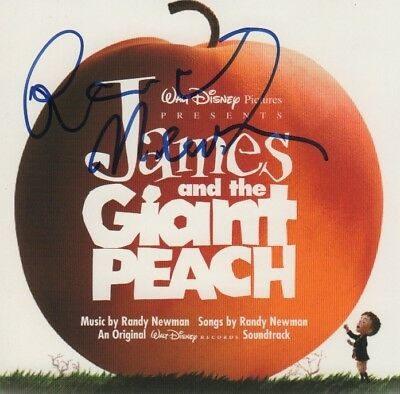 "Randy Newman Composer Autogramm signed CD Booklet  ""James and the Giant Peach"""