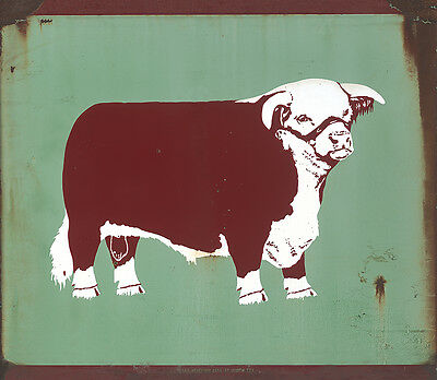 Texas Hereford Association, Fort Worth, Tex. Advertising Metal Sign