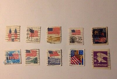 Wholesale Lot #717 Of Misc. FLAGS US Postage Stamps Used