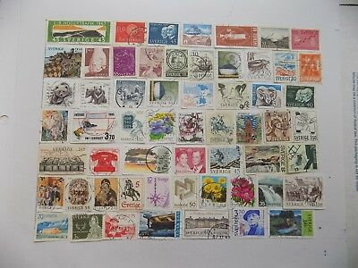 Swedish  Collection of stamps off paper all Commem..-10-21